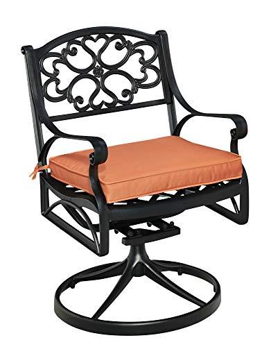 homestyles Drehstuhl Schaukelstuhl mit Kissen ohne schwarz