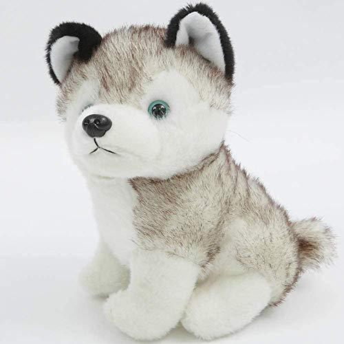 JIAL Spielzeug Husky Puppe Plüsch Muster Tier Hund Puppe Kinder Tag Geburtstagsgeschenk Weiß 18 cm, Farbe Name: Weiß 18 cm (Farbe: Weiß 18 cm) Chongxiang (Color : White 18cm)