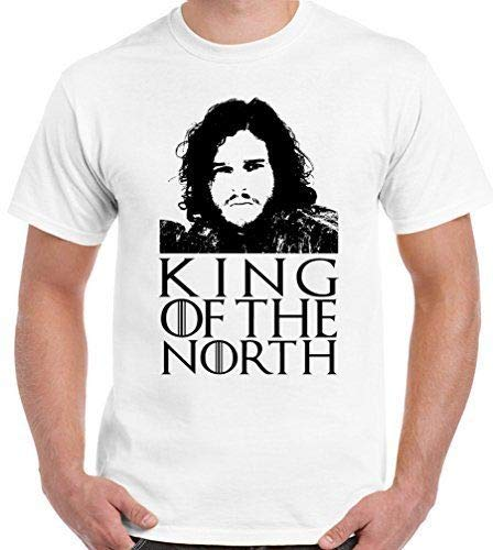 Spel Thron T-shirt King of The North Jon sneeuw heren grappige Got John