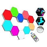 Sechseckige LED Wandleuchten mit Fernbedienung,Intelligente LED...