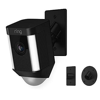 Ring Spotlight Cam Mount HD Security Camera, Black