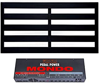 Pedaltrain Classic PRO Pedalboard 4 Rails 32x16 Wheeled Tour Hard Case and Voodoo Lab Pedal Power MONDO Isolated Power Supply