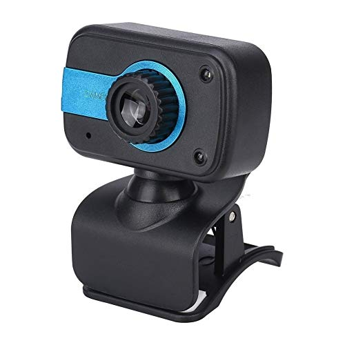 CttiuliSxt Webcam, 480P USB Webcam With Microphone, Used For Laptop Or Desktop Computer Camera, Used For Webcam To Drive High-definition Microphone. (Color : Black blue)