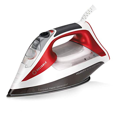 Reliable Velocity 260IR Steam Iron - Auto Control Compact Vapor Generator with Sensor Technology, Patented Technology for Continuous Steam, Zero...