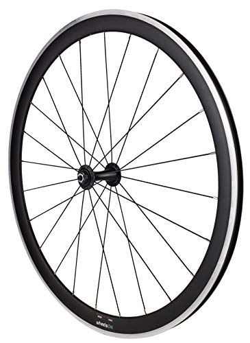 700c Road Racing Bike Front Wheel 40 mm Deep Aluminium Black Rim Brake Quick Releas