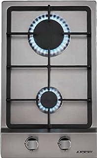 Encimera - Jocel JP2GI009074, 2 quemadores, Ignición automática, Acero inoxidable