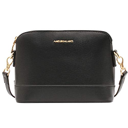 Premium Quality: AMELIE GALANTI crossbody bag is made of advanced non-pollution waterproof synthetic PU leather, without any weird smell. Combined with bright golden hardware accessories which are durable and chic. Special Dome Design: Brief dome des...