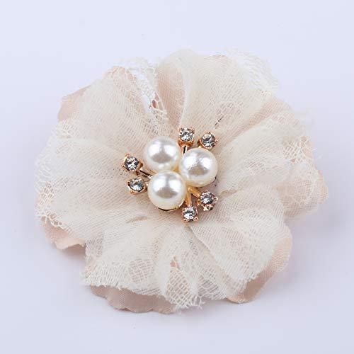 WEVB NUEVO 5 unids/lote de encaje de parche apliques de tela de encaje vestido de novia DIY flores novia velo ropa de la cabeza decoración (1)
