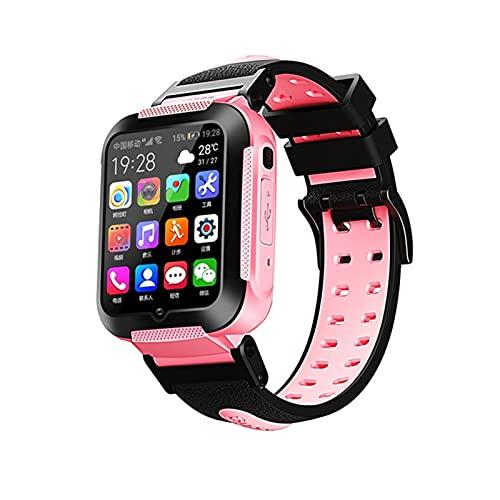 E7 4G Kids Smart Watch GPS WiFi Seguimiento Video Call Respuesta Llamada Chat Voz Chat NIÑOS MERSOS Cuidado Cuidado Estudiante SmartWatch Boy Girl,A