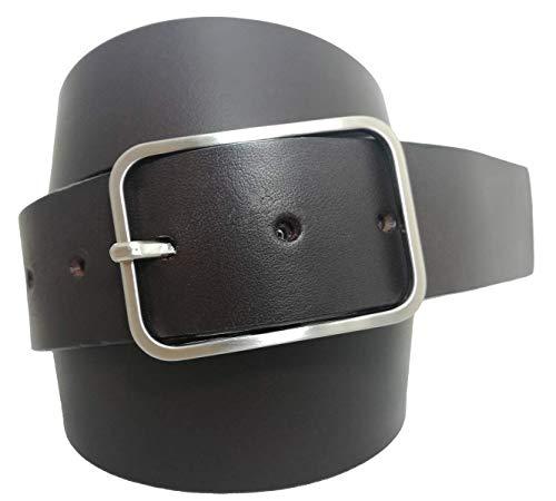almela - Cinturón de hombre y mujer - Piel legitima - Vaquetilla - 4 cm de ancho - Cuero - 40mm -...