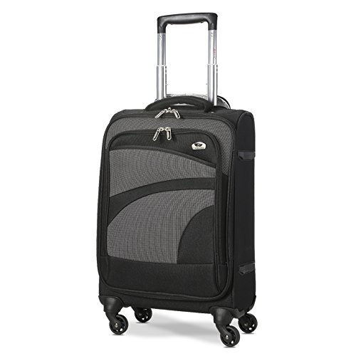 Aerolite Lightweight 55cm 4 Wheel Travel Carry On Hand Cabin Luggage Suitcase Black Grey Approved...