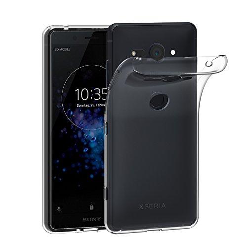 ivoler Funda Carcasa Gel Transparente para Sony Xperia XZ2 Compact, Ultra Fina 0,33mm, Silicona TPU de Alta Resistencia y Flexibilidad