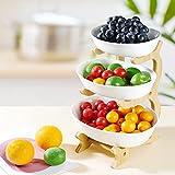 Obst Etagere Keramik 3 Stöckig Porzellan Obstteller 3 Etagen Obstschale mit...