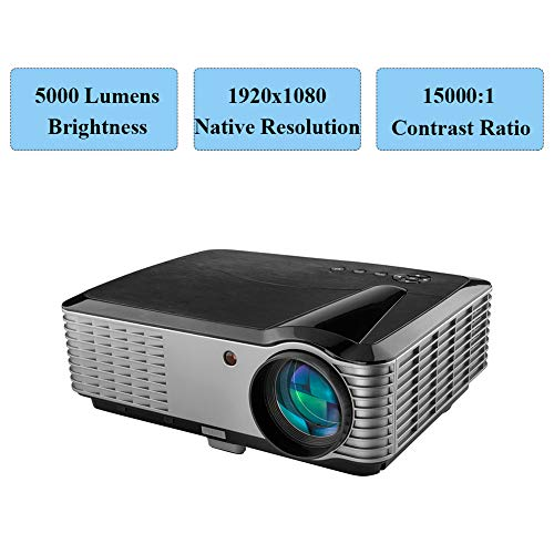 5000 Lumens Projector,1080P Native LED Projector Full HD, 4K Support, 15000:1 Home Theater Projector...