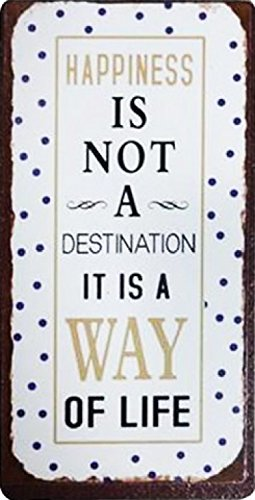 1art1 Inspiración - Happiness Is Not A Destination, It Is A Way of Life Imán (10 x 5cm)