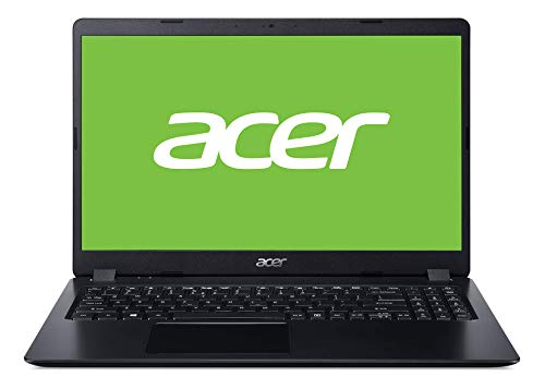 "Acer Aspire 3 - Ordenador Portátil 15.6"" HD (Intel Core i3-8130U, 8GB RAM, 256GB SSD, UMA, Windows 10 Home), Negro - Teclado Qwerty Español"