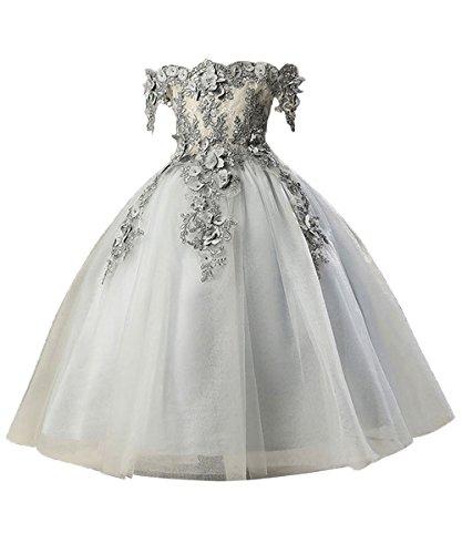 Misshow Abendkleider Kinder Mädchen Lang festliches Prinzessin Kleid Gr.80-160 3 Farbe