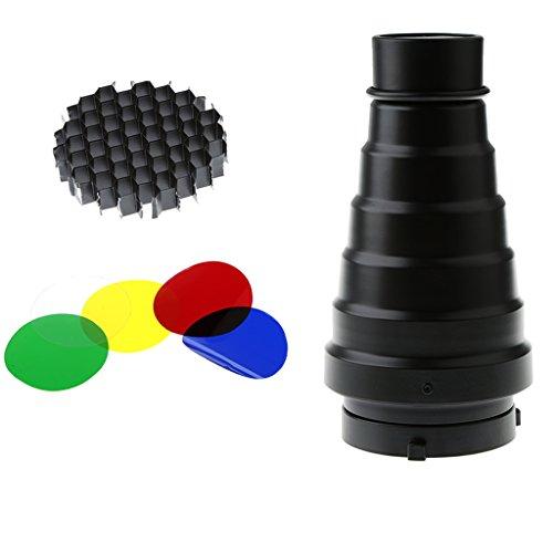 #N/A/a Cono de Fotografía Duradero con Kit de Filtro de Color de Panal