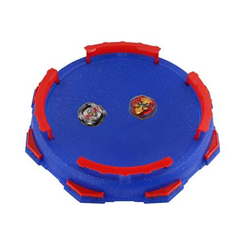MMLC Competitive Gyro Spielzeug Burst Gyro Arena Disk spannende Duell Kreisel Top Beyblades Launcher Stadium (Blue)
