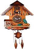 Orologio a cucù, Black Forest Cuckoo Orologio in legno massello / in plastica, bambola rotante / orologio da parete di controllo della luce per la stanza domestica Cucina Décor Décor