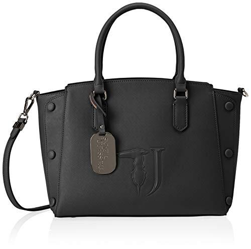 Trussardi Jeans Melissa Tote Medium Bag Covered Studs, Borsa Donna, Nero (Black On Tone), 21x24x13.5 cm (W x H x L)