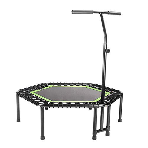 Klappbares Silent Mini Fitness Trampolin mit verstellbarem Griff Erwachsene Bungee Rebounder Jumping Workout Cardio Trainer für Kinder   Aerobic Bouncer Indoor Outdoor