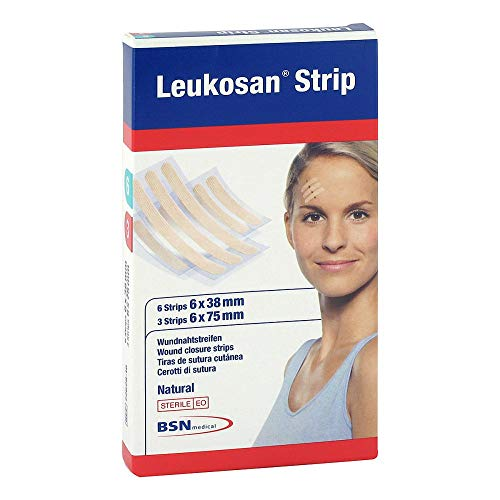 Leukosan Strip Natural Wundnahtstreifen steril, 2 St. Pflaster