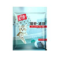 7ピース/セット再利用可能な猫砂ストレージフィルターバッグ子猫巾着くずパントレイバッグ穴ペットクリーニング用品