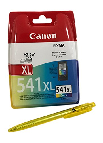 Original Druckerpatronen für Canon Pixma PIXMA MG2150, MG2250, MG3150, MG3250, MG3550, MG3650, MG4150, MG4250, MX375, MX395, MX435, MX475, MX515, MX525, MX535 inkl. Kugelschreiber (Color XL)