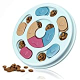 Dog Puzzle Toys Puppy, Puzzle Game Toy, Treat Dispenser for Dogs Training Funny Feeding, ABS Colorful Design Slow Feeder to Aid Pets Digestion (Blue)