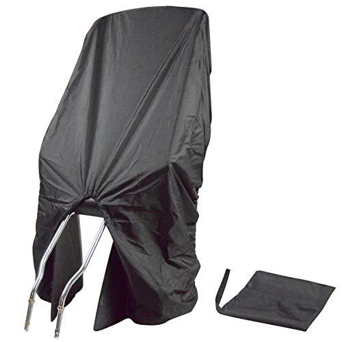 TROCKOLINO Regenschutz - wasserdichte Abdeckung für Fahrradkindersitz - Kindersitz Fahrrad hinten - gegen Schmutz und Nässe, schwarz