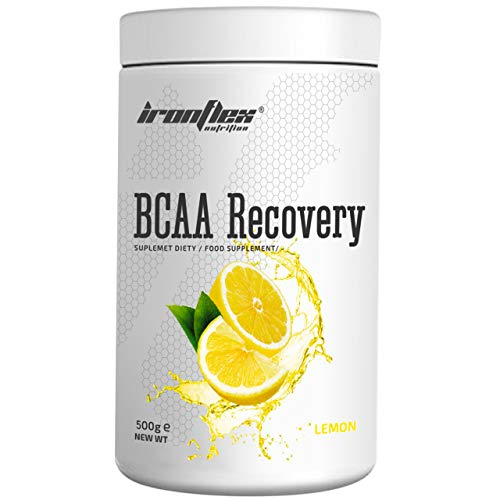 IronFlex BCAA Recovery - 1 Pack - Branched Chain Amino Acids in Powder - Muscle Regeneration - Anticatabolic - with Glutamine (Lemon, 500g)