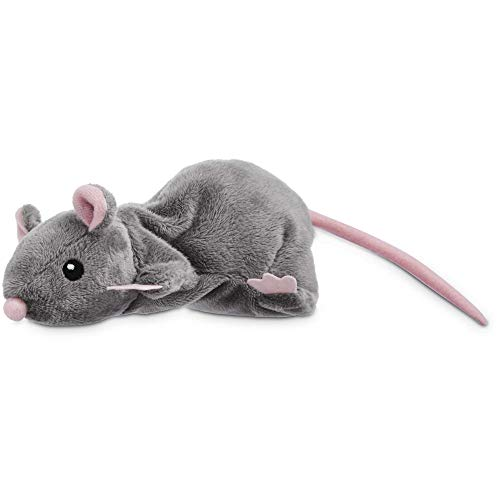 Leaps & Bounds Grey Rat Cat Toy, 11.25 in, Gray