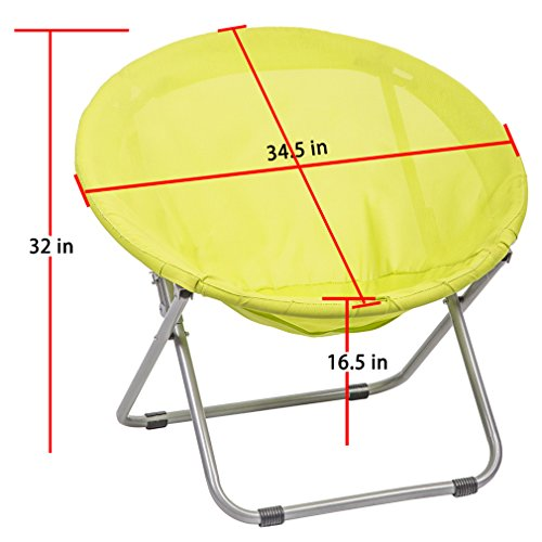 BestMassage Large Folding Saucer Moon Outdoor Patio Leisure Chair Corduroy Round Seat Living Room