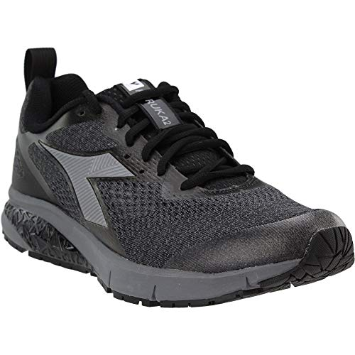 Diadora Mens Kuruka 2 Running Casual Shoes, Black, 11.5
