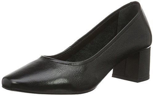 Buffalo London Damen ZS 6632-16 Soft Tumbled  Pumps, Schwarz (Black 01), 38 EU