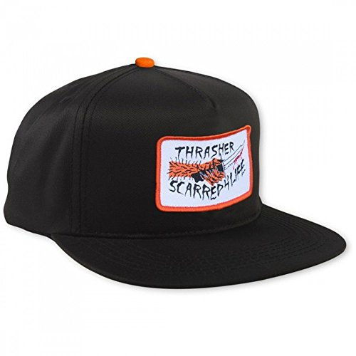 THRASHER Gorra Cap Scarred Black