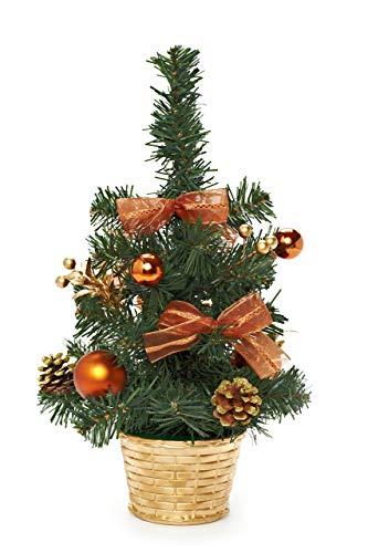 HEITMANN DECO dekorierter Weihnachtsbaum - Kleiner künstlicher Tannenbaum geschmückt - Weihnachtsdeko - Gold, Kupfer