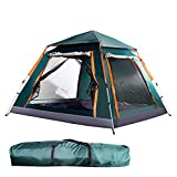 3-4-Person Waterproof Pop up Camping Tent with Rainfly Instant Tent Portable with Carring...