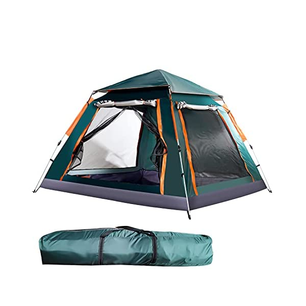 3-4-Person-Waterproof-Pop-up-Camping-Tent-with-Rainfly-Instant-Tent-Portable-with-Carring-Bag-Green