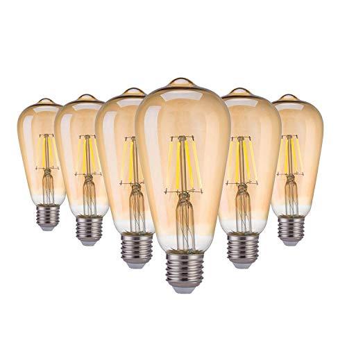Yafido Bombilla LED E27 Edison Vintage Bombilla de Filamento LED Cáli