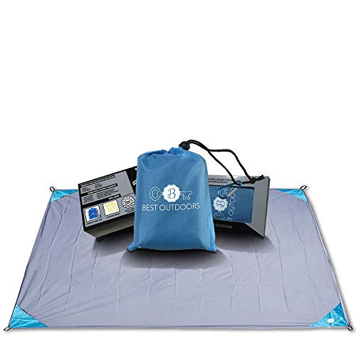 Best Outdoors Beach Blanket - Compact Waterproof & Sand Proof Outdoor Blanket with Free Survival Bracelet