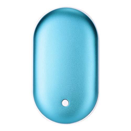 SSXY Wiederaufladbarer Handwärmer 5200Mah Elektro-Handwärmer Doppel-Seitentasche Handwärmerfür Winter - # 27, Sky Blue