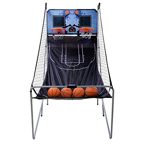 Saturnpower Shot Creator Indoor Basketball Arcade Game Foldable Electronic Double Shootout Sport...