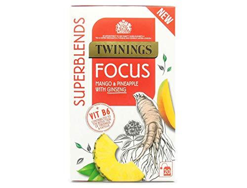 Twinings Superblends Focus, 80 Tea Bags, (Multipack of 4 x 20 Bags)