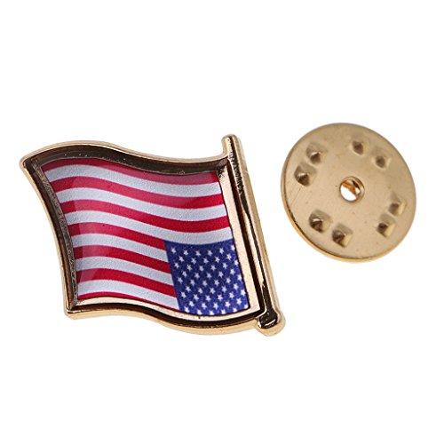 F Fityle Spilla in Metallo Bandiera Italia Francia Germania Cina Spagnola Giappone Australia India America Stati Uniti 2.2x2cm - 1