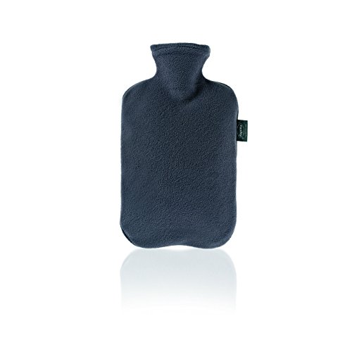 Fashy Hot Water Bottle with Fleece Cover (Assorted Colors)