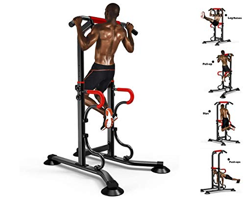 Learn More About Mlide Heavy Duty Adjustable Power Tower Multi-Function Strength Training Dip Stand ...