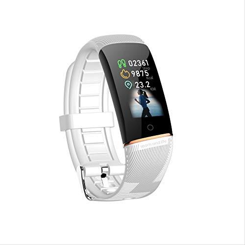 Hartslag- en bloeddrukmeter Horloge,5 Kleur Scherm Touch Smart Band, 24-uurs Hartslagbewaking, Remote Photo, Informatie Oproep Herinnering, Android, Ios,Cherry Blossom Poeder, Paars