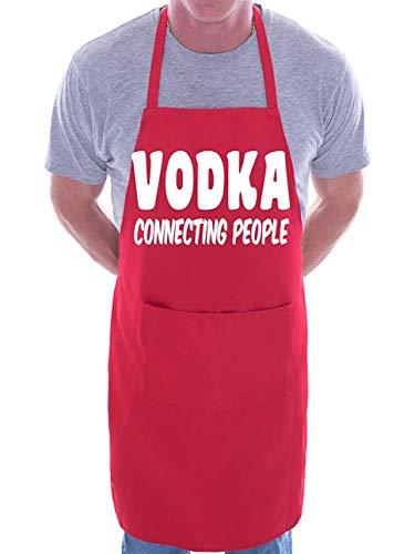 Mesllings wodka aansluiten drankjes BBQ koken grappige nieuwigheid schort rood